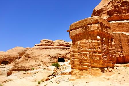 nabataean: Ancient nabataean constructions at Petra town, Jordan