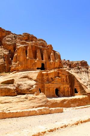 nabataean: Ancient nabataean temple at Petra town, Jordan
