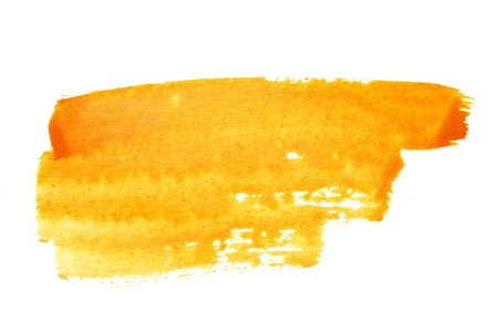 Orange watercolor brush strokes, may be used as background photo