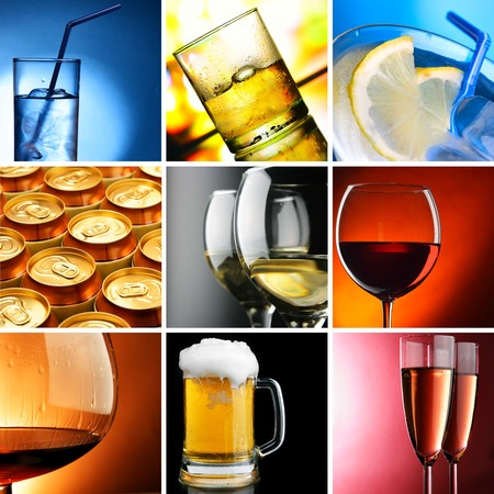 Set of different alcohol drinks photos Stock Photo - 7997204