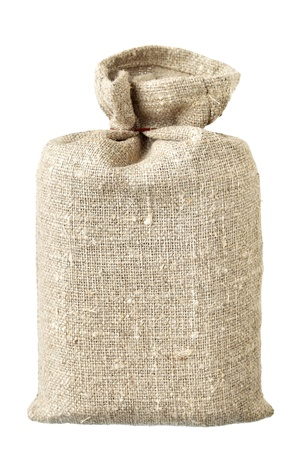 Small sack isolated over the white background photo