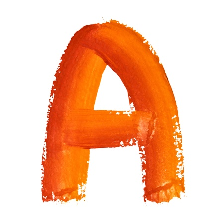 educaton: A - Color letters isolated over the white background Stock Photo