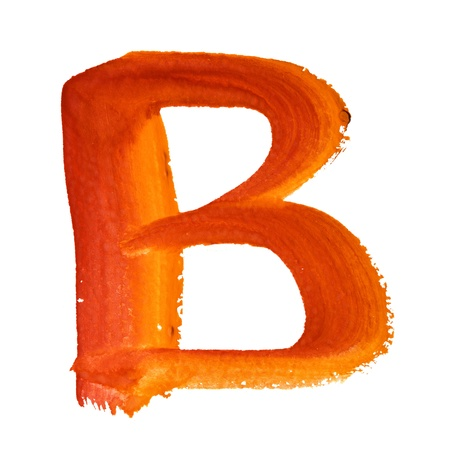 B - Color letters isolated over the white background photo