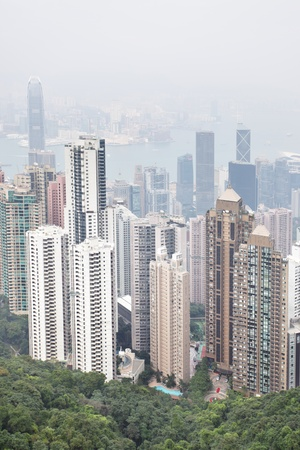 Hong Kong island, view from Victoria Peak Stock Photo - 8584916