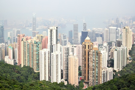 Hong Kong island, view from Victoria Peak Stock Photo - 8584929