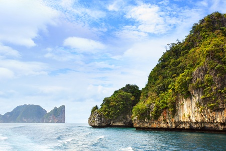 woody bay: Andaman sea and Phi-Phi islands in Thailand Stock Photo