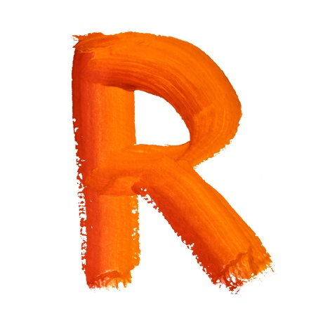 educaton: R - Color letters isolated over the white background Stock Photo