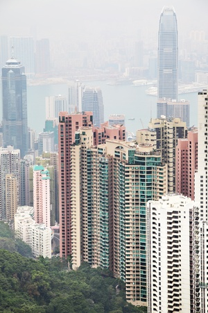 Hong Kong island, view from Victoria Peak photo