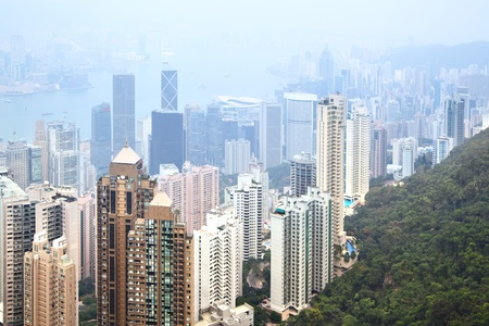Hong Kong island, view from Victoria Peak Stock Photo - 8586426