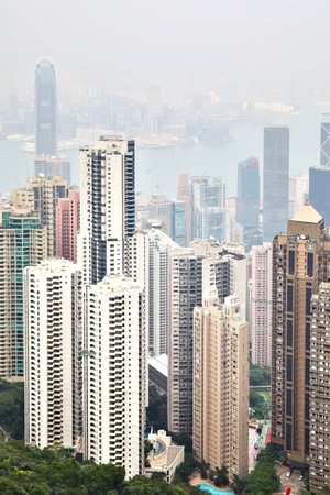 Hong Kong island, view from Victoria Peak Stock Photo - 8785209