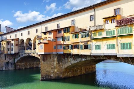 Bridge Ponte Vecchio over Arno river in Florence, Italy