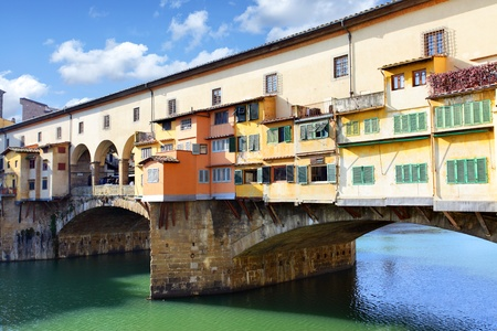 florence: Bridge Ponte Vecchio over Arno river in Florence, Italy