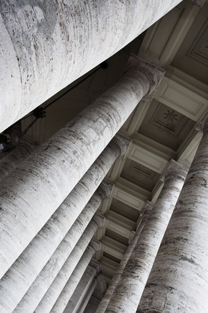 Perspective of the classic columns close up photo