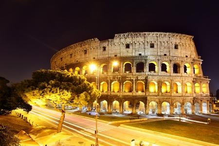rome italie: Le Colis�e durant la nuit, Rome, Italie.