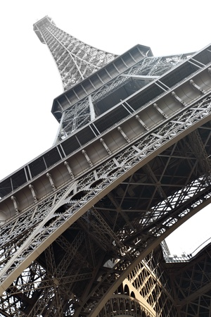 Eiffel tower isolated over the white background, Paris, France. Stock Photo - 9153483