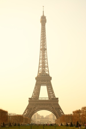 Eiffel tower sepia toned, Paris, France. Stock Photo - 9230959