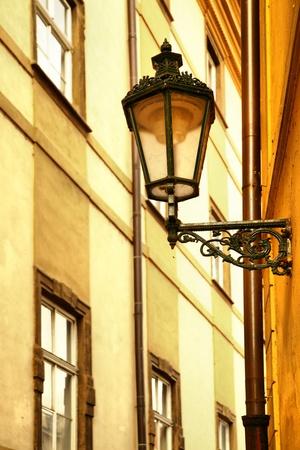 Old lantern at narrow street at Prague, Czech Republic Stock Photo - 9284656