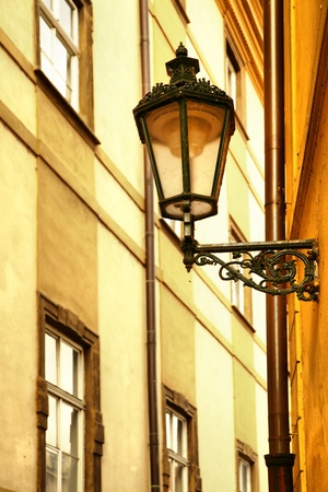 Old lantern at narrow street at Prague, Czech Republic Stock Photo - 9284656