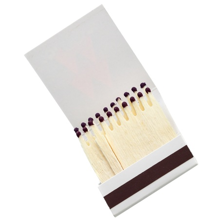 Matchbook close-up isolated over the white background Stock Photo - 9508085