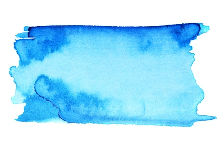 water colour: Blue watercolor brush strokes, may be used as background