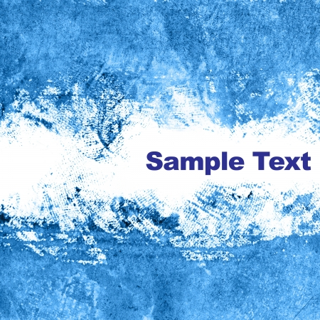 Blue abstract background with space for your own text photo