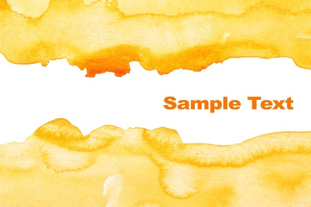 Yellow abstract watercolor background with space for your own text photo
