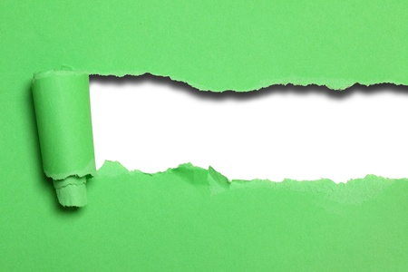 Green paper background with space for your own text Stock Photo