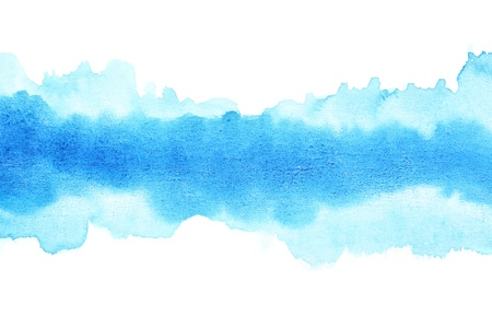 Blue watercolor brush strokes, may be used as background photo