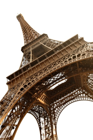 Eiffel tower isolated over the white background, Paris, France. Stock Photo - 9647247