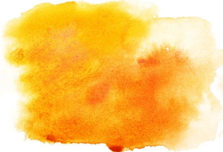 Yellow abstract watercolor strokes, may be used as background photo