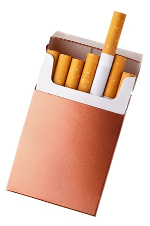cigarette pack: Cigarette pack isolated over the white background