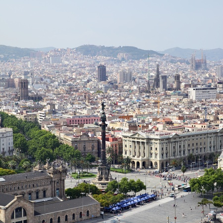 View of Barcelona city, Catalonia, Spain photo
