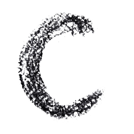 C - Hand-written alphabet isolated over the white background photo