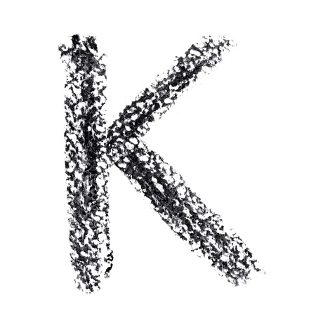 educaton: K - Hand-written alphabet isolated over the white background
