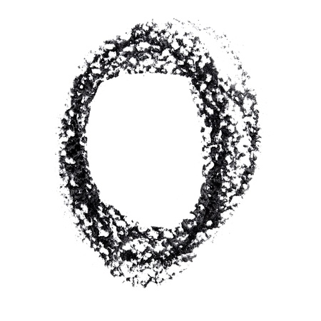 educaton: O - Hand-written alphabet isolated over the white background