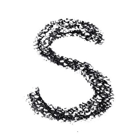 educaton: S - Hand-written alphabet isolated over the white background Stock Photo