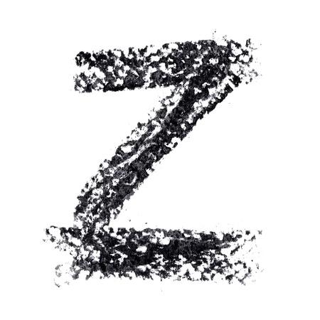 educaton: Z - Hand-written alphabet isolated over the white background