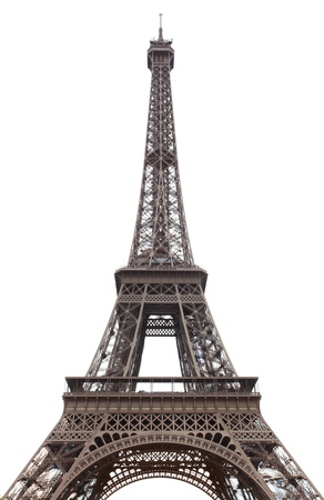 Eiffel tower isolated over the white background photo