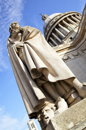 dramatist: Monument of french dramatist Pierre Corneille (1606-1684) near Pantheon in Paris, France Stock Photo