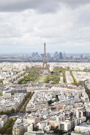 Aerial panoramic view of Paris, France photo
