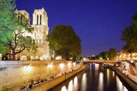 Evening view of Paris, France photo