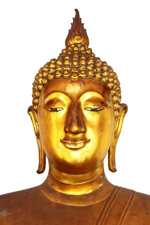 budda: The Buddha of gold isolated over white background Stock Photo