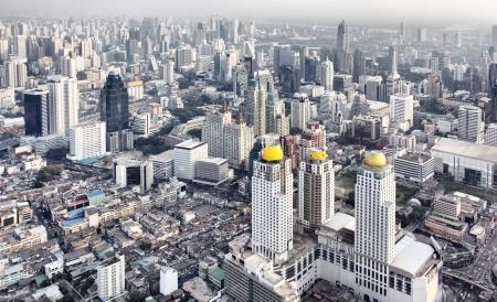 View from above of Bangkok city, Thailand.  Redakční