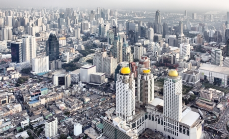View from above of Bangkok city, Thailand.  Editorial