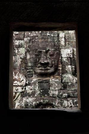 bayon: Face of Buddha at Bayon temple, Angkor, Cambodia