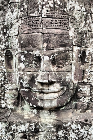 Face of Buddha at Bayon temple, Angkor, Cambodia Stock Photo - 11899224