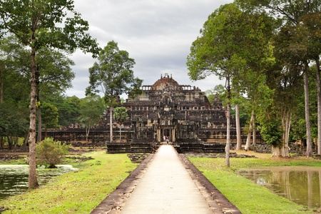 Ancient ruins of king's palace (Baphuon) at the Angkor, Cambodia  photo