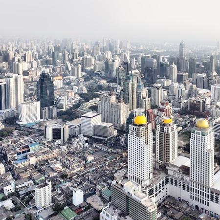 bangkok city: Bangkok city view from above, Thailand.