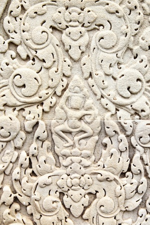 khmer: Khmer stone carving in Angkor Wat, Cambodia