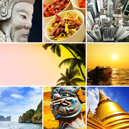 Asia - Set of shots from South-East Asia Stock Photo